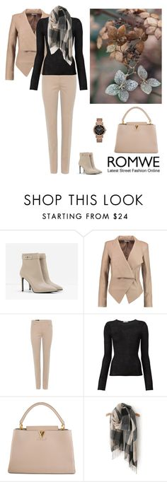 """""""Romwe Scarf"""" by dezaval ❤ liked on Polyvore featuring CHARLES & KEITH, Helmut Lang, Loro Piana, Denis Colomb, Louis Vuitton and Michael Kors"""