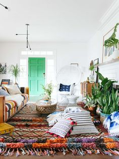 Living Room - Beautiful high-textured rug. Do you like the multi-heights?