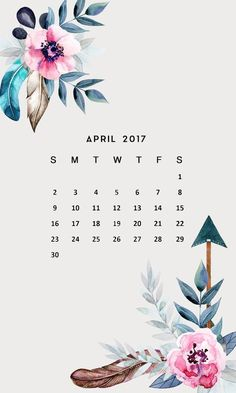 April Floral Calendar FREE iPhone Wallpapers from Prone to Wander. Inspiring quotes, bible verses, and art for your phone!