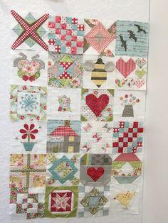 First 24 blocks of my Splendid Sampler Quilt