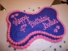 Birthday Cake (Bone Shaped)