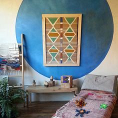 Weavings for days + painted wall =