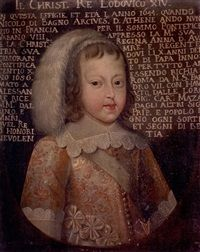 View Portrait of King Louis XIV. By French School, oil on canvas; Louis Xiv, Versailles, Ludwig Xiv, Maria Theresa, Francis I, French School, Roman Emperor, French Revolution, Mural Painting
