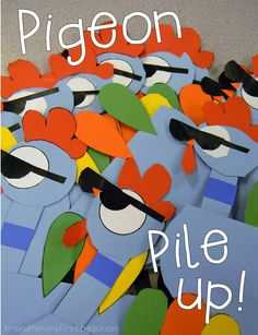Pigeon pile up! Pigeon persuasive writing booklets.