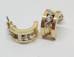 Goldohrstecker Ohrringe mit Kristall-Steinen MO100 von Schmuckbaron