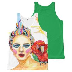 Tropical mind All-Over print tank top Tank Tops