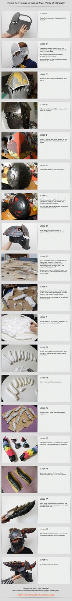 Cosplay tutorial - Helmet of Wow by ~kurerukreatis on deviantART