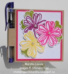 Post-it Note holder by StampingwithMarsha - Cards and Paper Crafts at Splitcoaststampers