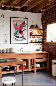 Emilio Fuscaldo's Melbourne home on The Design Files. Photography – Sean Fennessy, styling / production – Lucy Feagins / The Design Files. Eclectic Kitchen, Modern Kitchen Design, Interior Design Kitchen, Kitchen Decor, Kitchen Ideas, Nice Kitchen, Kitchen Storage, Open Kitchen, Kitchen Designs