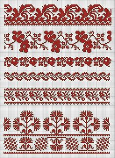 Russian Cross Stitch, Beaded Cross Stitch, Cross Stitch Borders, Cross Stitch Charts, Cross Stitch Designs, Cross Stitch Embroidery, Hand Embroidery, Seed Bead Patterns, Loom Patterns