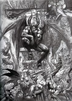 Paradise Lost – The Art of Simon Bisley Simon Bisley, Dark Fantasy Art, Dark Art, Arte Horror, Horror Art, Art Noir, Satanic Art, Demon Tattoo, Creation Art