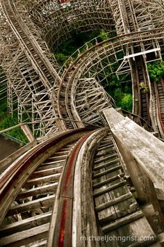top of the wooden roller coaster aska, in Nara Dreamland, Japan (abandoned theme park).