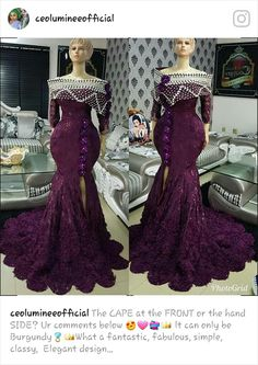 Dress like royalty Lace Dress Styles, African Lace Dresses, Latest African Fashion Dresses, African Dresses For Women, African Print Fashion, Africa Fashion, African Wedding Attire, African Attire, Nigerian Bride
