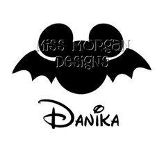 Personalized Bat Halloween Mickey Mouse Disney iron by MissMorgan, $7.00