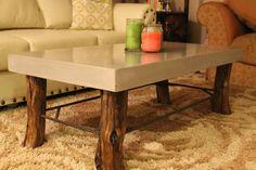 Handmade coffee table. #Concrete