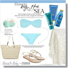 Down by the sea sea! by clumsy-dreamer on Polyvore featuring Chicnova Fashion, Melissa Odabash, Monsoon, Eos, Shiseido, Nivea, H&M and Dansk
