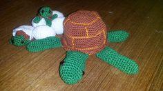 schildpad met haar kleintjes