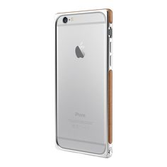 Adopted FRAME CASE iPHONE 6 SILVER / BROWN