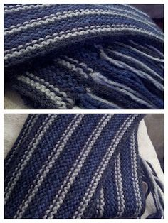 Perfect Mens Scarf - perfect gift for this time of the year.  Click through for free pattern.