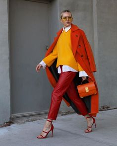 Blair Eadie in Tamara Mellon Reverse Frontline Heels Colorful Outfits, Colorful Fashion, Stylish Outfits, Fashion Outfits, Womens Fashion, Winter Trends, Looks Style, My Style, Simple Style