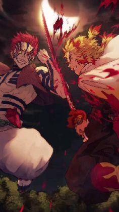 Kyojuro Rengoku vs Akaza • Anime Live Wallpaper • Flame Hashira • Demon Slayer • Kimetsu no Yaiba