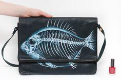 Skeletal Fish Purse by NinaValkhoff