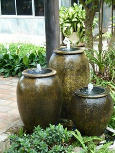 Special Water Fountain Design Ideas In Your Perfect Garden - Rose Gardening Yard Water Fountains, Diy Water Fountain, Small Fountains, Water Garden, Outdoor Fountains, Fountain Lights, Fountain Garden, Small Water Features, Water Features In The Garden