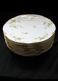 Theodore Haviland Limoges Green Floral