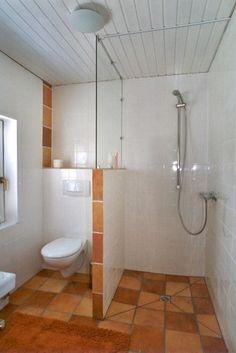 Duschabtrennung Halb Mauer Halb Glaswand Mehr