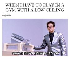"""Derek Zoolander (Ben Stiller) says """"what is this? A center for ants?"""" during a scene from the 2001 film Zoolander. Volleyball Jokes, Volleyball Problems, Play Volleyball, Volleyball Players, Coaching Volleyball, Volleyball Gifts, Girls Basketball, Girls Softball, Volleyball Workouts"""
