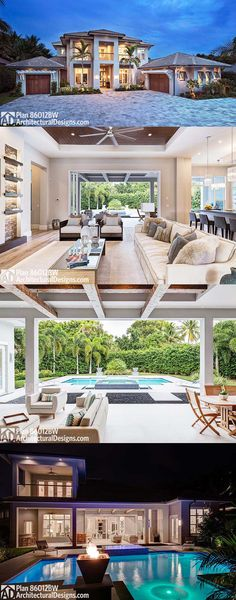 Architectural Designs Luxury House Plan 86012BW has a great room that opens to the outdoor living room giving you incredible front-to-back views and indoor/outdoor entertaining. 4 beds and over 4,000 square feet of living. Ready when you are. Where do YOU want to build?