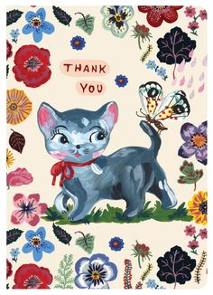 Nathalie Lete Greeting Card - Thank You 01 from 7321 DESIGN