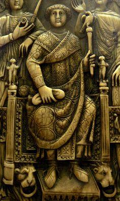Consul Magnus,en 518,Constantinople. Ivoire,feuillet du diptyque. Bibliotheque Nationale de France