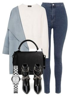 """""""Untitled #5521"""" by laurenmboot ❤ liked on Polyvore featuring Topshop, rag & bone, Zara, Carven, Yves Saint Laurent and Marc by Marc Jacobs"""