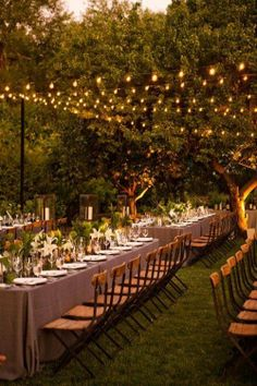 27 Rustic Wedding Decorations You Must Have A Look---rustic wedding lightings for outdoor garden wedding receptions for fall Deco Champetre, Vineyard Wedding, Outdoor Lighting, Outdoor Wedding Lights, Outdoor Weddings, Outdoor Fall Wedding Reception, Lighting Ideas, Yard Lighting, Outdoor Fairy Lights