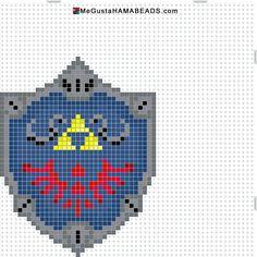Hylian shield from The Legend of Zelda hama perler pattern