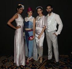 Sheila Tiruchy, Alesia Raut, Sucheta Sharma James and Shahnawaz Alam at SNDT-AMD's Chrysalis fashion show