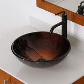 Found it at Wayfair - Neutral Handcrafted Glass Bowl Vessel Bathroom Sink