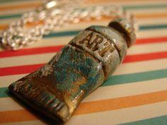 Art Paint Tube Necklace. $8.00, via Etsy.