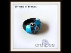 ▶ Tutorial   Polymer Clay   Anello Blu Anemone Flower   DIY Ring - YouTube