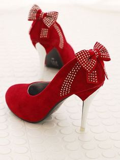 #red #bow #shoes