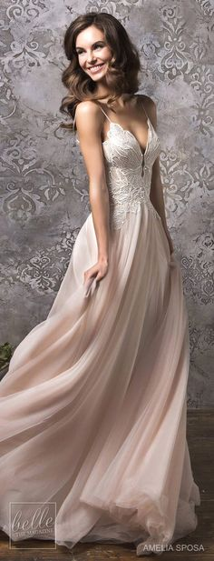 Pink wedding dress. All brides imagine having the most appropriate wedding ceremony, however for this they require the best bridal gown, with the bridesmaid's outfits enhancing the brides dress. These are a few suggestions on wedding dresses.
