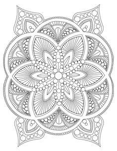 Abstract Mandala Coloring Page For Adults Digital Download Stress Relief Relaxing