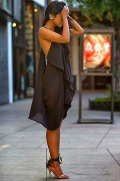 Gorgeous summer sexy black dress