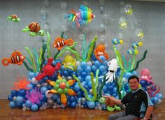 Balloon ocean. I've got to find that birthday balloon animal guy! Lol