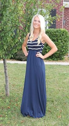 Magnolia Boutique Indianapolis - Striped Top Maxi Dress- Navy/Ivory, $39.00 (http://www.indiefashionboutique.com/striped-top-maxi-dress-navy-ivory/)