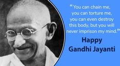Top 20 Gandhi Jayanti Images Quotes And Messages For 2nd October 2 October Gandhi Jayanti, Happy Gandhi Jayanti, Gandhi Jayanti Images, National Festival, Spirit Of Truth, Festivals Of India, October 2, World Peace, Change The World