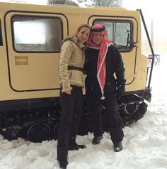 Queen Rania and King Abdullah - December 2013