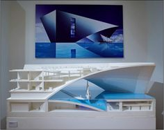 Model and image of Ando's Maritime museum.
