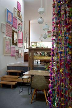 eklektische einrichtungs stilmix pink holz Marrickville House